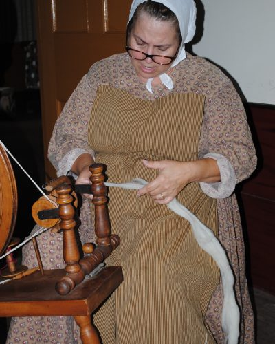 The Farmers' Museum Interpreters are talented spinners and demonstrate their craft daily.