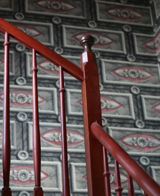 In the 1840s wall paper came in imaginative patterns and colors.