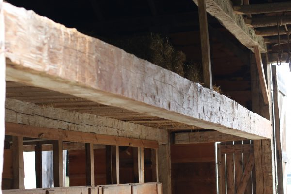 The historic Sweet Marble Barn offers visitors a chance to see long hand hewn beams and other carpentry of the 19th century.